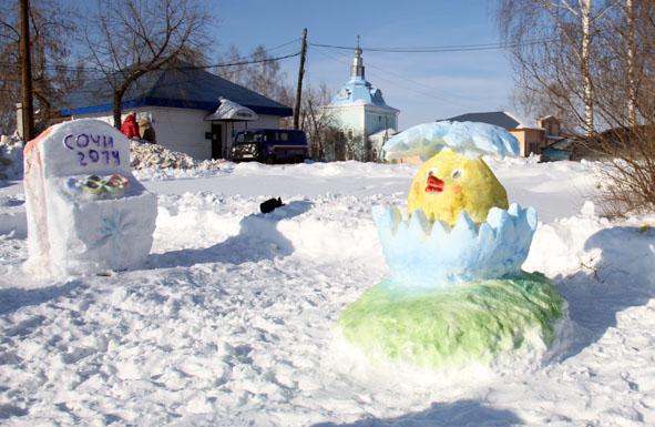 Как сделать фигуры из снега своими руками для детского сада фото